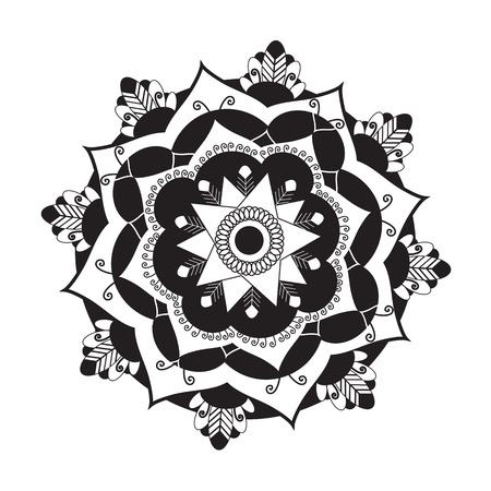 veda: Mandala.Pagan symbol. Schematic representation of the sacred