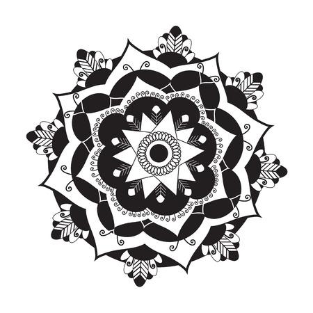 geometria: Símbolo Mandala.Pagan. Representación esquemática de lo sagrado