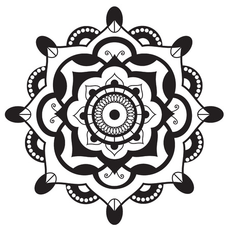 sacral: Mandala.Pagan symbol. Schematic representation of the sacred