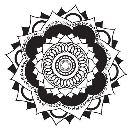 rituals: Mandala.Pagan symbol. Schematic representation of the sacred