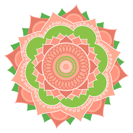 sacral symbol: Mandala.Pagan symbol. Schematic representation of the sacred