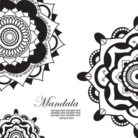 mandala tattoo: Mandala.Pagan symbol. Schematic representation of the sacred