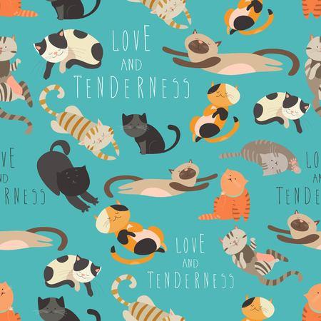 고양이의 원활한 패턴 가족