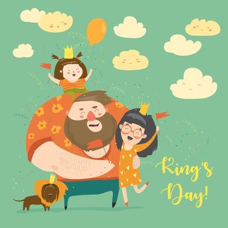 Family celebrating Kings Day