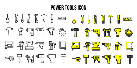 Elektrowerkzeuge Symbol UI-Vektor Vektorgrafik