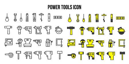 power tools icon UI vector