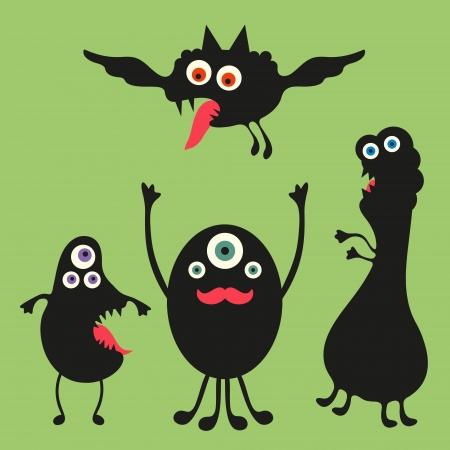 weirdo: Happy monsters illustration  - Set 2 Illustration