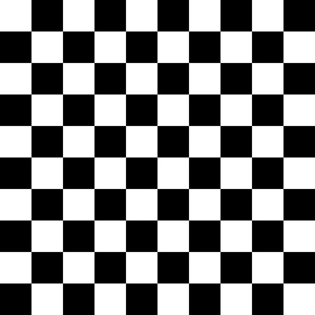 checkerboard backdrop: Black and white image with a grid
