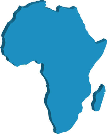Isometric Flat Africa Map Vector Illustration Vetores
