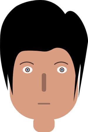 Man Face Art Vector Illustration