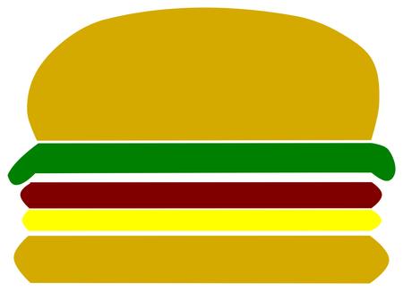 Hamburger on white background Illustration