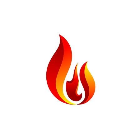 fire flame logo vector, hot fire symbol icon design, modern sign flames logotype Ilustracja