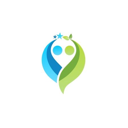 partnership logo illustration vector design, couple logo illustration, partner symbol icon logotype