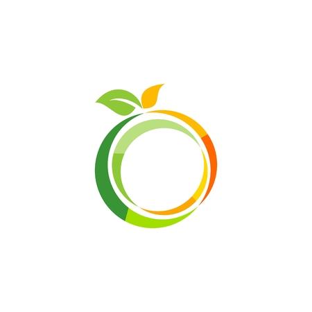 illustration fresh fruit logo template, lemon health symbol, nutrition apple icon, orange vector design Ilustracja