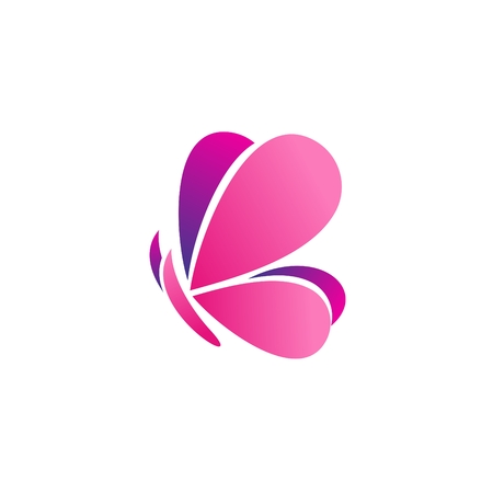 butterfly logo icon vector, beauty pink butterfly logo concept relax symbol vector design Ilustracja