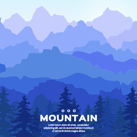 overlook: View of blue mountains .Mountain landscape.