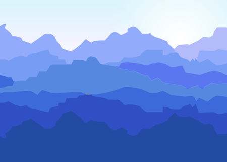 rockies: View of blue mountains .Mountain landscape.