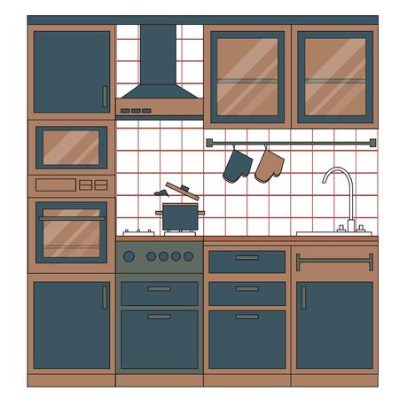Kitchen Interior Design. Mobili Per La Casa. Set Di Elementi ...
