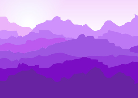 View of purple mountains .Mountain landscape.