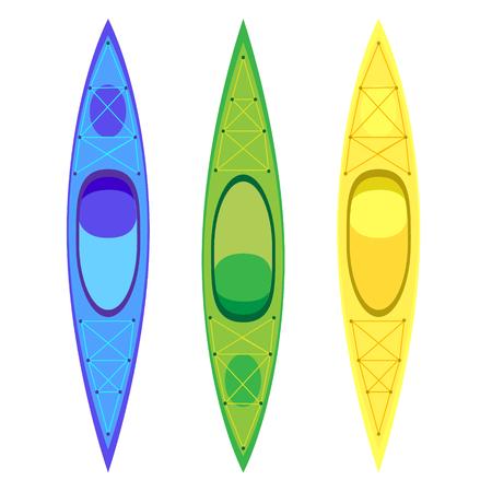 ocean kayak: Kayak y paddle icono cuadrado. Ilustraci�n vectorial de elementos Actividades al aire libre - kayaks. Kayak aislado, kayak de mar