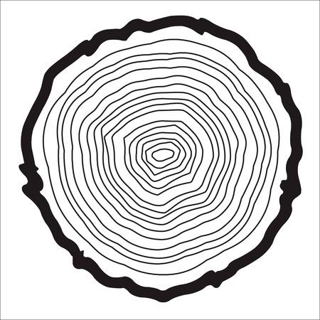 Les anneaux d'arbre arrière-plan et de scie trompe vecteur de l'arbre, de la foresterie et des scieries Banque d'images - 46271191