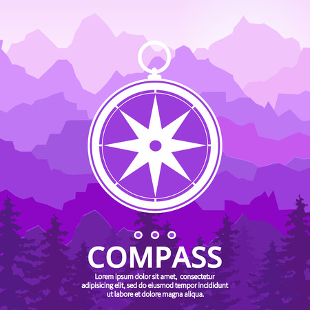 directions icon: Compass rose symbol directions. Navigation and traveling sign. Travel icon. Vector illustration.