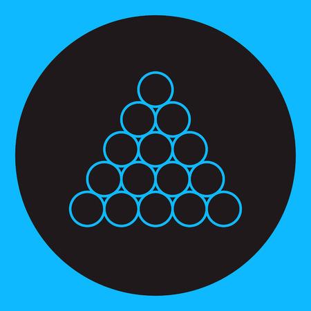 Billiardpool balls icon triangle – Vector illustration