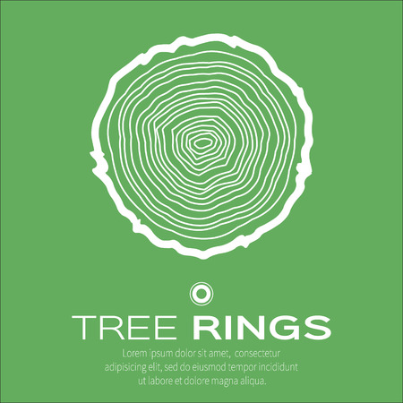 plywood: Tree rings background and saw cut tree trunk vector, forestry and sawmill. Wood texture. Vector illustration