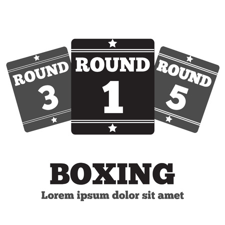 show ring: Boxing Ring Board. Boxing design over white background vector illustration.
