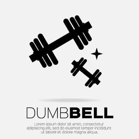 dumbell: Dumbbel set . Sports equipment icon.