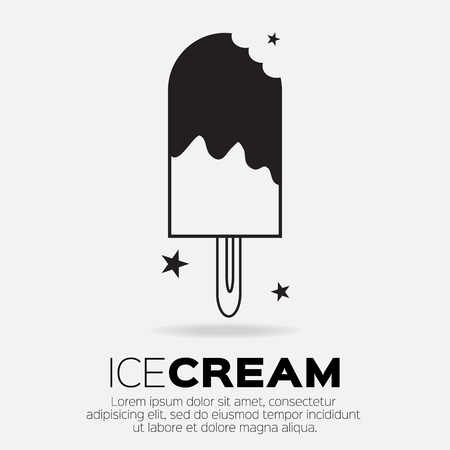 sweetness: Ice Cream Icons. Sweetness mono vector symbols. Illustration