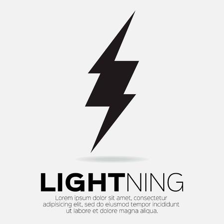 lightning storm: Lightning bolt icon for apps and websites
