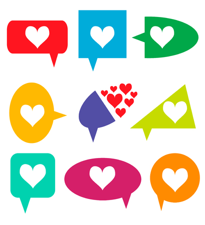Notification Icons. Like Counter Set. Love, like - Buttons with counter on ribbons and labels Network and communication, web and internet, design. Vector illustration