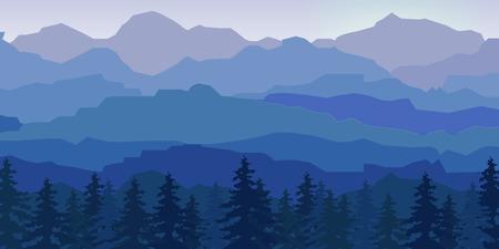 Ansicht der blauen Berge spiegelt sich in der water.Mountain Landschaft. Standard-Bild - 46353408