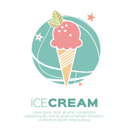 Ice Cream Icons. Sweetness mono vector symbols. Иллюстрация