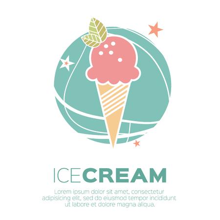 Ice Cream Pictogrammen. Zoetheid mono vector symbolen.