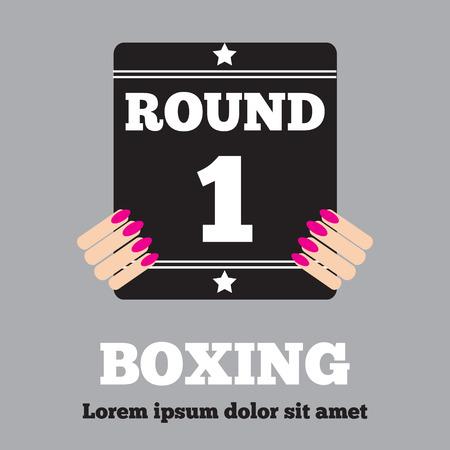 Boxing Ring Board. Boxing design over white background vector illustration.