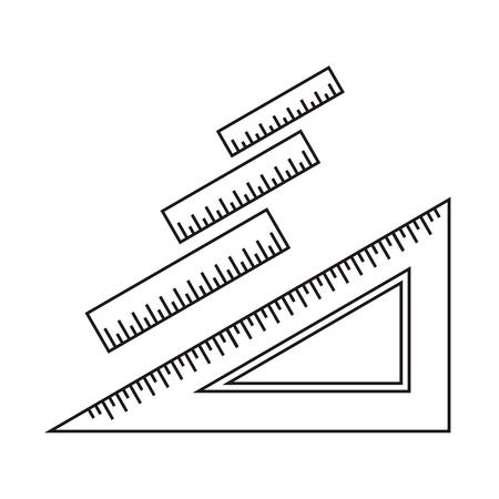 ruler: Ruler icon. Ruler symbol. Office Supply Objects. Flat Vector illustration. Illustration