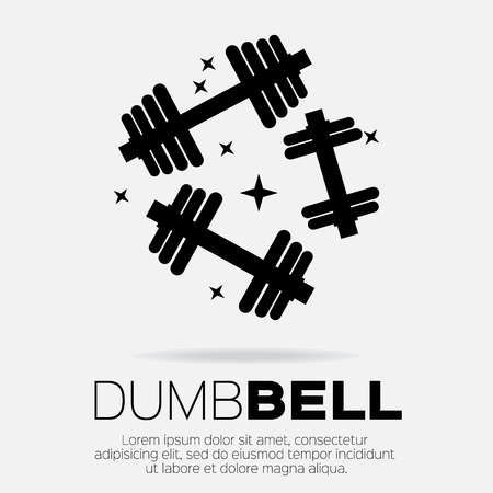 sports equipment: Dumbbel set . Sports equipment icon.