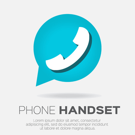 friend nobody: Telephone handset in speech bubble vector icon.