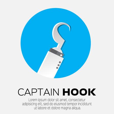 sea robber: Pirate hook hand. Illustration