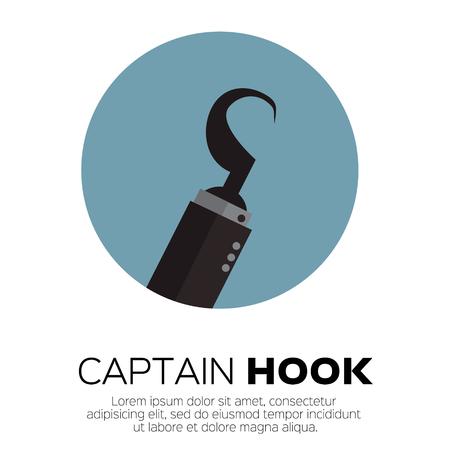 pirate symbol: Pirate hook hand. Illustration