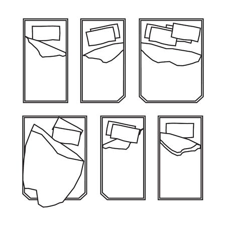 double bad: Bed icons on white background. Vector illustration.