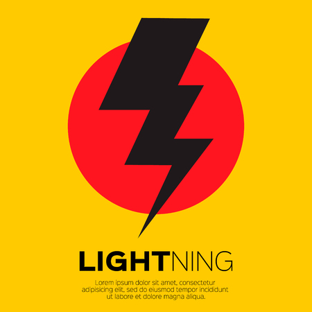 rayo electrico: Icono de rayo para aplicaciones y sitios web