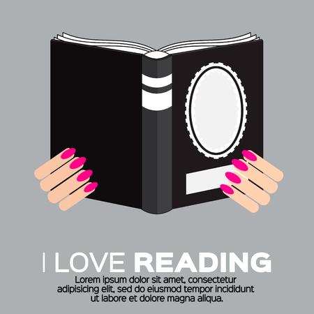 portadas de libros: Mujeres que leen un libro en estilo colorido diseño plano. Amo los libros. biblioteca en casa con la literatura, ilustración vectorial