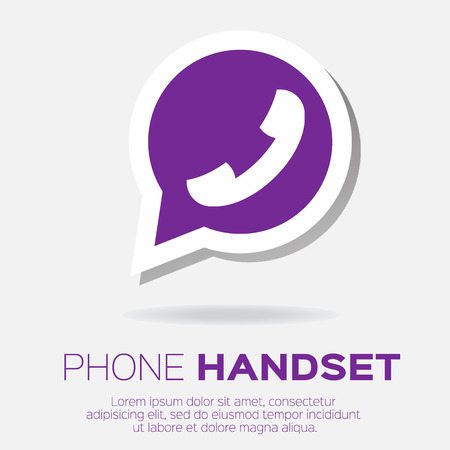 friend nobody: Telephone handset in speech bubble vector icon