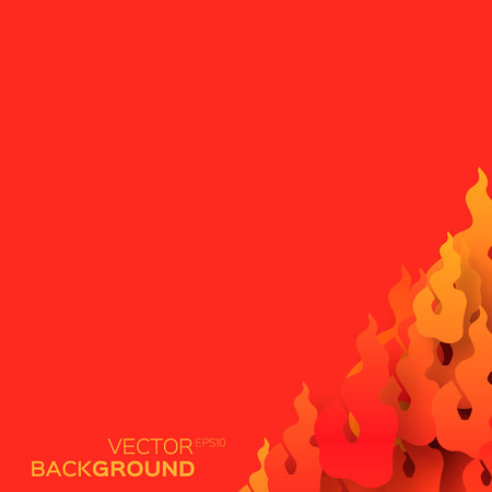 fiery: Classical Traditional Chinese paper flame shapes, fiery concept design background. Vector illustration eps10.