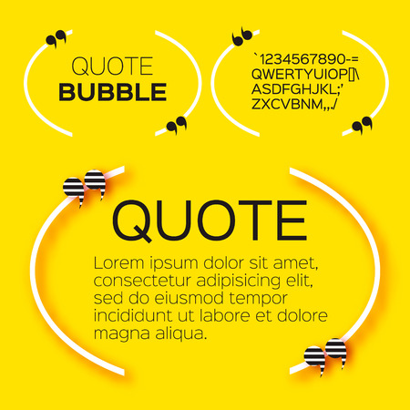 citation: Quote bubble. Empty Citation text box template. Quote blank.
