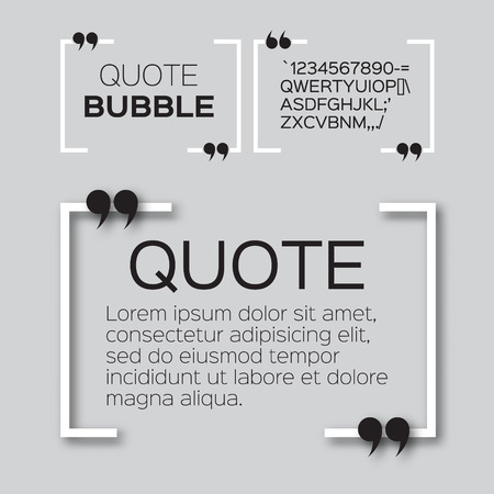 textbox: Quote bubble. Empty Citation text box template. Quote blank.