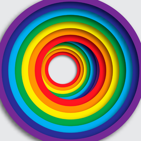 rainbow background: Bright background with rainbow colorful circles.